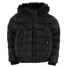 everlast womens er jacket padded coat top hooded zip full