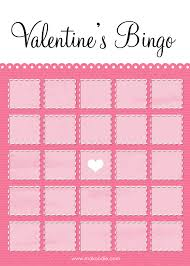 valentine u0027s bingo free printable download makoodle