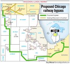 Chicago Train Map by Chicago Freight Rail Bypass Gaining Steam Founder Says Gazettextra