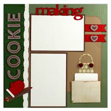 christmas cookie recipe scrapbook layout cutting files available
