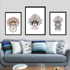 aliexpress buy india cartoon puppy dog cat canvas print