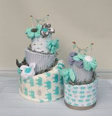 Baby Boy Shower Centerpieces by Its Twins Twin Diaper Cake Baby Shower Gift Pink And Blue Baby Boy
