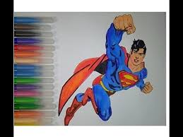 superman superhero coloring pages kids color