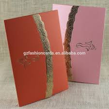 simple design factory direct sale cheap hindu wedding cards