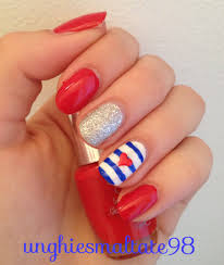 nail art heart beautify themselves with sweet nails