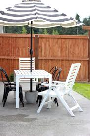 Patio Umbrella Side Table by Diy Patio Umbrella Stand Tutorial