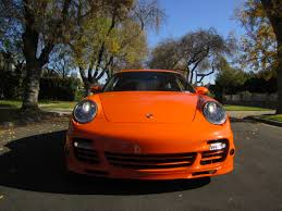 porsche 911 orange 2007 pts orange porsche 911 997 turbo coupe in beverly hills