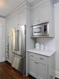 How To Finish The Top Of Kitchen Cabinets The 25 Best Refrigerator Cabinet Ideas On Pinterest Kitchen