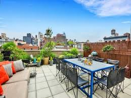 The United Nations Dining Room And Rooftop Patio Chelsea Condo With Rooftop Terrace For Sale At 4 5m Chelsea Ny
