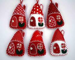 felt fabric house ornament sewing felt etc 2