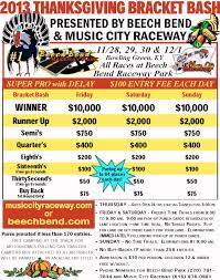 thanksgiving day races beech bend raceway park information drag race results
