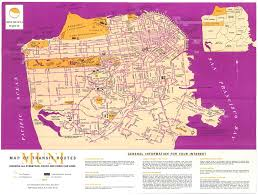San Francisco Transportation Map by Historical Map San Francisco Muni Transit Routes Transit Maps