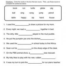 noun worksheets page 2 of 3 have fun teaching
