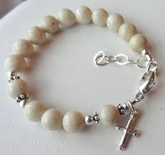 baby rosary sterling silver baby boy baptism rosary bracelet christening