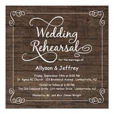 wedding rehearsal invitations rustic wood wedding rehearsal dinner invitations zazzle