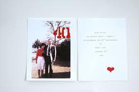40th anniversary invitations handmade 40th anniversary invitations invitation crush