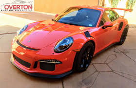 porsche 911 orange 2016 porsche 911 gt3 rs in lava orange with only 1800 miles