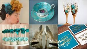 gold wedding theme teal turquoise gold wedding theme