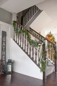 Banister Christmas Garland Pine And Eucalyptus Christmas Garland Keys To Inspiration