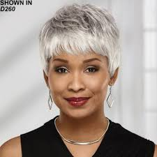 salt and pepper pixie cut human hair wigs african american pixie wigs wig com