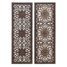 Decorative Wood Wall Panels by Beautiful Carved Scroll Wall Decor Ivory Elegant Medallion Wood