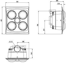 ventair franklin exhaust fan 3 in 1 white u2013 fan heat u0026 light