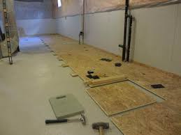 Basement Subfloor Systems - modern bathroom basement subfloor options ideas and cost