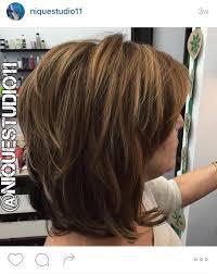 short layered medium length haircut lots of layers in this hair