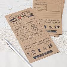 kraft advice cards for the and groom card by
