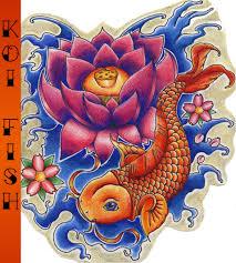 koi fish and lotus tattoo designs on leg photo 4 2017 real