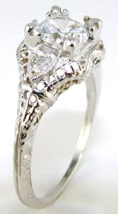 diamond antique filigree engagement ring the jewelers guild