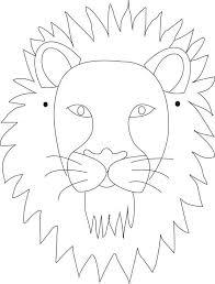 lion mask for kids mask lion mask coloring page lion mask coloring pagefull size