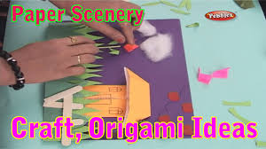 paper scenery learn craft for kids origami for children