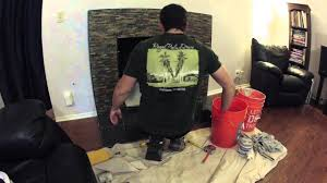 diy fireplace remodel timelapse day 6 of 6 drywall stone and