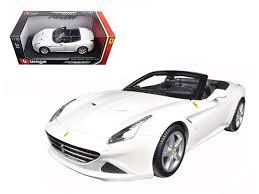 california model car california t open top white 1 18 diecast model car by