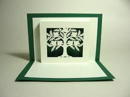 kirigami family tree pop up card happy folding