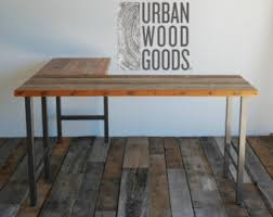 Wooden Table L L Shaped Desk Etsy