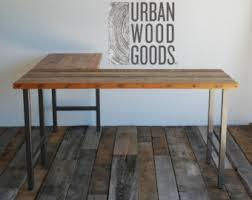 reclaimed wood l shaped desk the elle desk reclaimed wood l shaped desk wood office desk