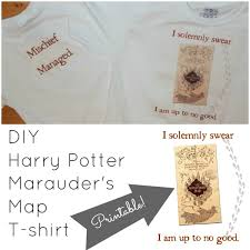 diy harry potter marauder u0027s map t shirts with printable