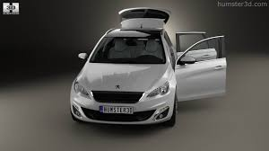 peugeot 308 models 360 view of peugeot 308 sw with hq interior 2014 3d model hum3d