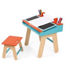 Holz Schreibtisch Kaufen Janod Schreibtisch Kombination Holz Blau Orange Online Kaufen