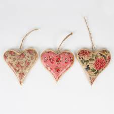 heart decorations home floral u0026 gold vintage hanging heart decorations