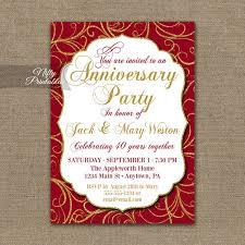40th anniversary invitations 40th anniversary invitations printable 40th wedding