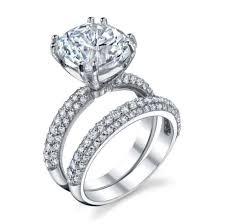 4 carat cubic zirconia engagement rings cz engagement set 0424 khloe wedding ring cz