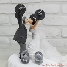 weight lifting cake topper custom cake topper weight lifting theme