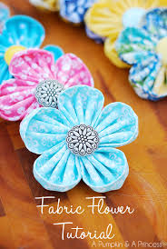 fabric flowers how to make kanzashi flowers easy fabric flower maker tool