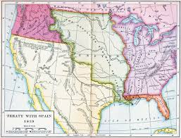 Map Of Florida by Map Of The Treaty With Spain 1819