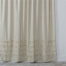 Ticking Stripe Curtains Projects Idea Of Ticking Stripe Shower Curtain Curtains Southern