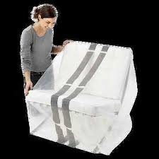 Plastic Sofa Covers For Moving 2 X Dining Chair Couch Cover Plastic Protector Loungh Sofa 75um