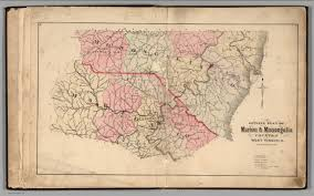 Virginia On Map by Outline Plan Of Marion U0026 Monongalia Counties West Virginia